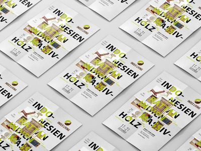 Index Living collage green catalog fair living wood furniture interior poster printdesign graphicdesign