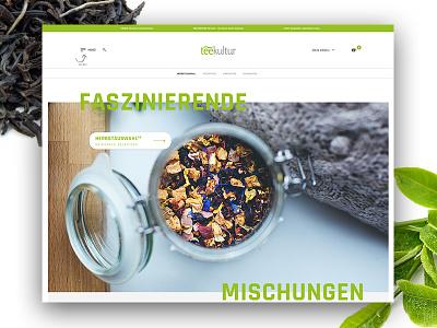Teekultur Halle eCommerce + Redesign ux ui green webdesign ecommerce onlineshop redesign leaves tea