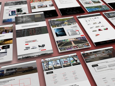 Japo Website Redesign ui ux webdesign portfolio catalog rental grey black red redesign