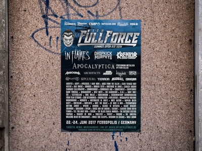 With Full Force 2017 Poster plakat graphicdesign festival wff poster