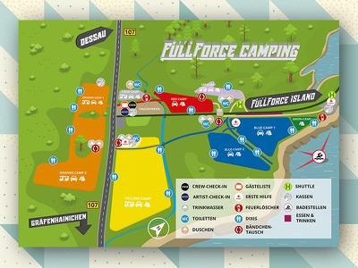 With Full Force 2017 Ground Plan print map poster plakat graphicdesign groundplan wff