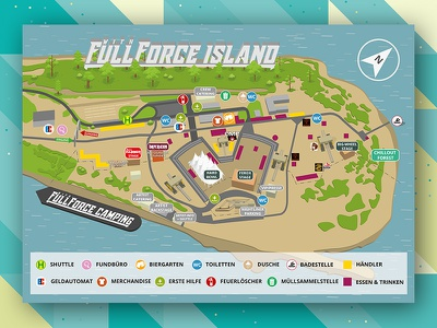 With Full Force 2017 Ground Plan Infield print map poster plakat graphicdesign groundplan wff