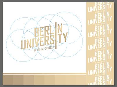 Berlin University Of Digital Sciences gold identity branding illustration circle logo berlin university color bright