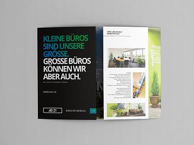 AG/21 Brochure real estate flyer design print brochure