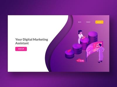 Digital Marketing website | Landing page