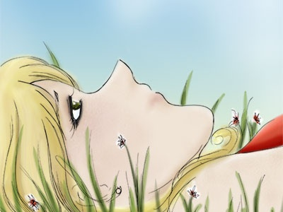 dreaming into a lonely sky manga illustration ink photoshop