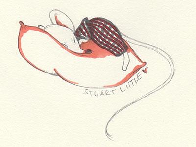 Stuart Little illustration copic pencil animal sketch