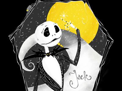 Jack Skellington illustration photoshop painting art magic halloween