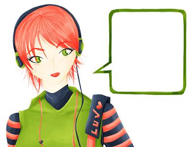 L-U-V illustration manga anime character photoshop girl