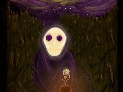 Jack-o-Lantern illustration evil nightmare ghost horror halloween