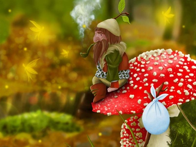 Gnome Wanderings forest wood fairy tale fairiies fantasy fantastic beast gnome leaves nature autumn