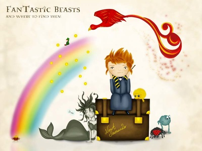 Newt And His Fantastic Beasts puffskein new york hogwarts phoenix harry potter fantastic beasts