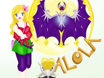 Pokemon Sun and Moon alola lunala jangmo-o moon pokémon pokémon sun moon