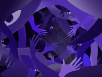 surround multiply hand simple surround vector design illustration