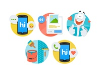 Illustrations for hike messenger - Part 2