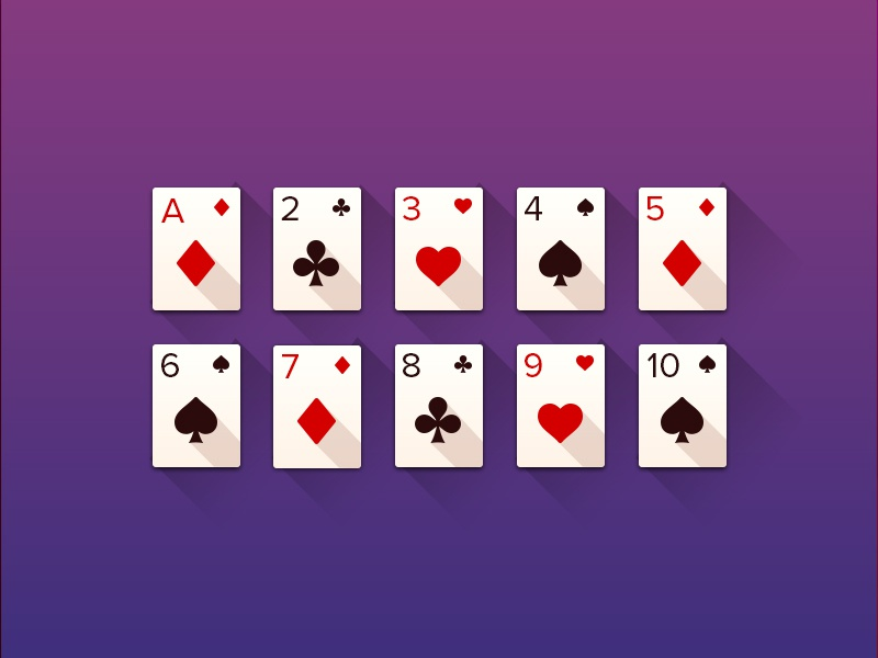 Playing Cards shadows gradient design poker pastel vectors illustrations solitaire playing cards cards