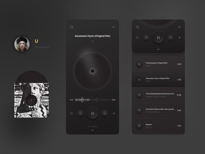 Skeuomorph Player uiux mobile app mobile ui player ui player