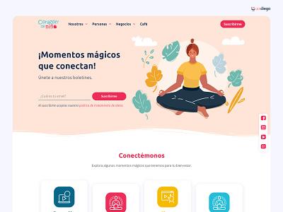 Corazón de Niño - UI and Wordpress yoga reiki colombia medellin mindfulness meditation