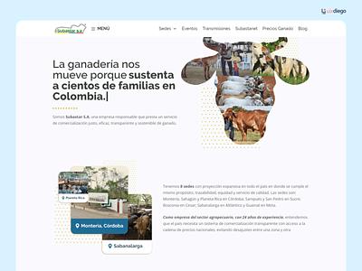 Website para Subastar S.A - Colombia farming subasta uidesign wordpress ui colombia cow farm ganaderia