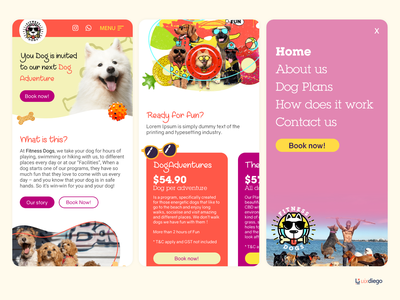 Fitness Dogs - DayCare Mobile First booking dog web daycare sydney mobile first day care dogs