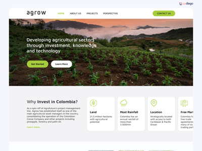 Website Agri investment in Colombia