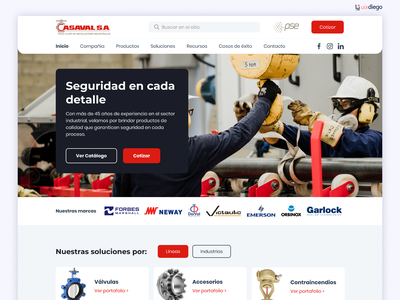 Website Industrial Company - Valves colombia website industrial design company industrial valves