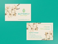 Butterfly boutique Logo & Business card design.