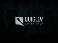 Quigley Guitar Shop Logo Design.