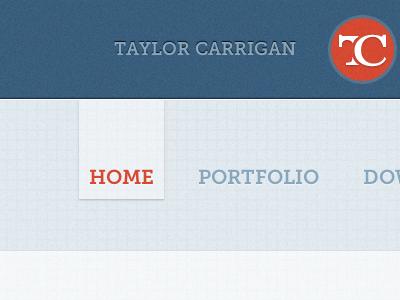 Nav navigation nav website website design site design taylor carrigan blue orange grid