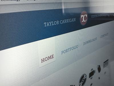 Launched website design web design taylor carrigan taylorcarrigan.com blue orange