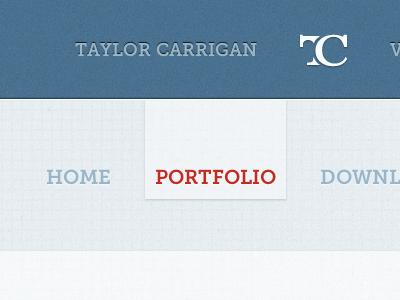 I killed the orange. taylorcarrigan.com web design website design blue red grid portfolio taylor carrigan