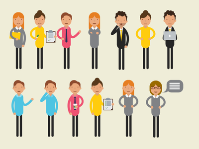 We're just ordinary people woman man business illustration