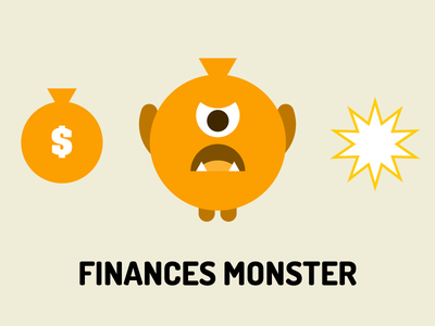 Finances Monster finances monster illustration