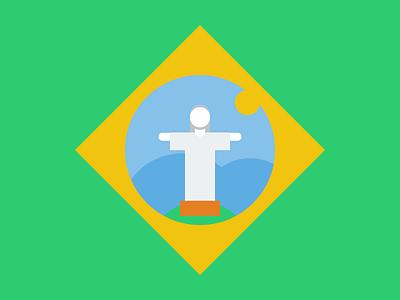 Rio 16 olympics brazil flags