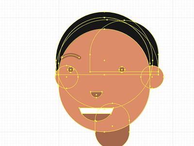 Mostly circles illustration vector avatar