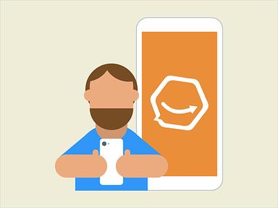 Screen shot customer product illustration