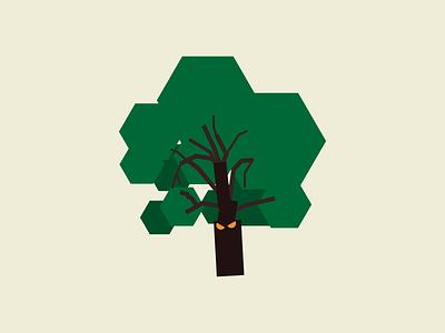 Angry tree illustration tree