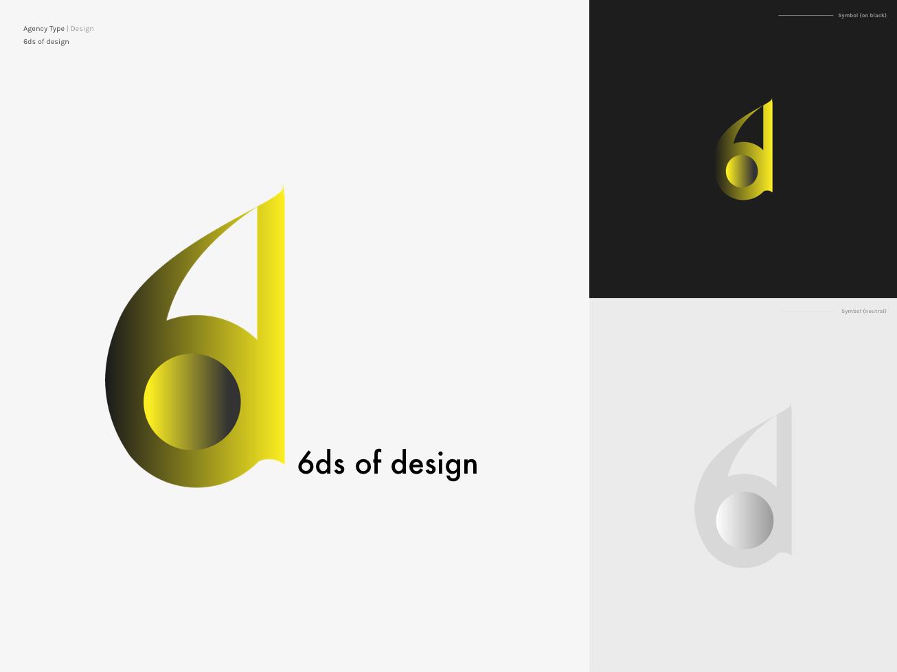 6ds of design ux ui logo creative logo logo design