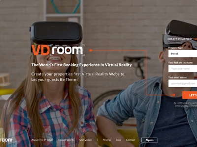 Booking Experience In Virtual Reality virtual reality booking web design vr