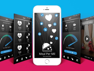 Healthy life mobile app design mobile life style healthy health sport