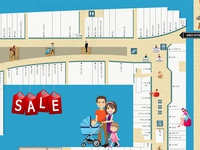 UI/UX for shopping mall map - Zoomshopper