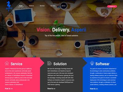 Asperii web ui/ux design startup web web design design ui uiux