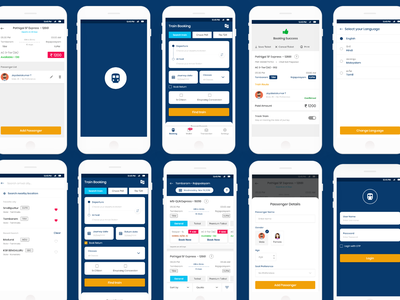 IRCTC Mobile App UI Screen design mobile app design mobile ui ui mobile app irctc