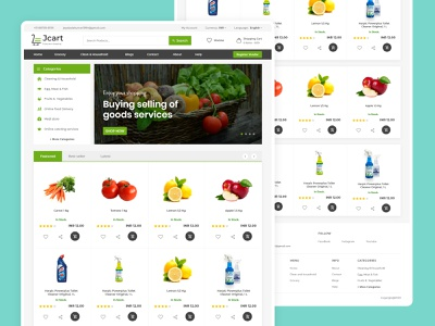 Grocery Web UI Design - Home Screen shopping website ecommerce webdesign grocery website
