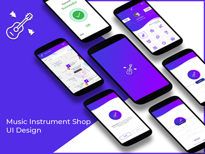 Music Instrument Shop UI