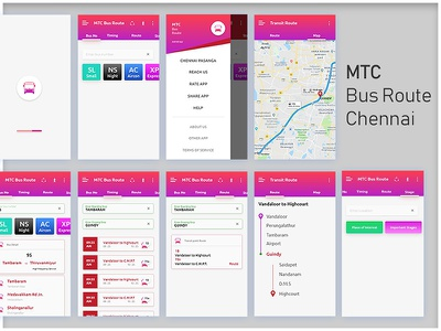 CHENNAI MTC Bus and Route Find UI