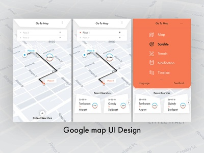 Google Map UI Design
