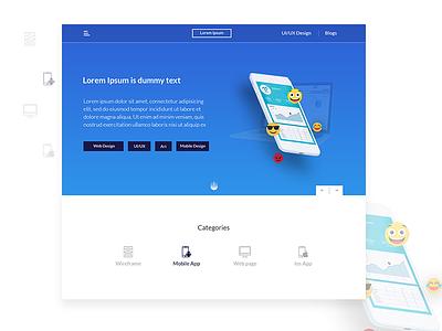 Web Profile UI Design