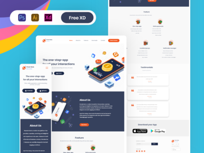 Chat app website | Landing page | Responsive