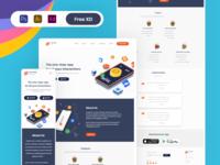 Chat app website | Landing page | Responsive